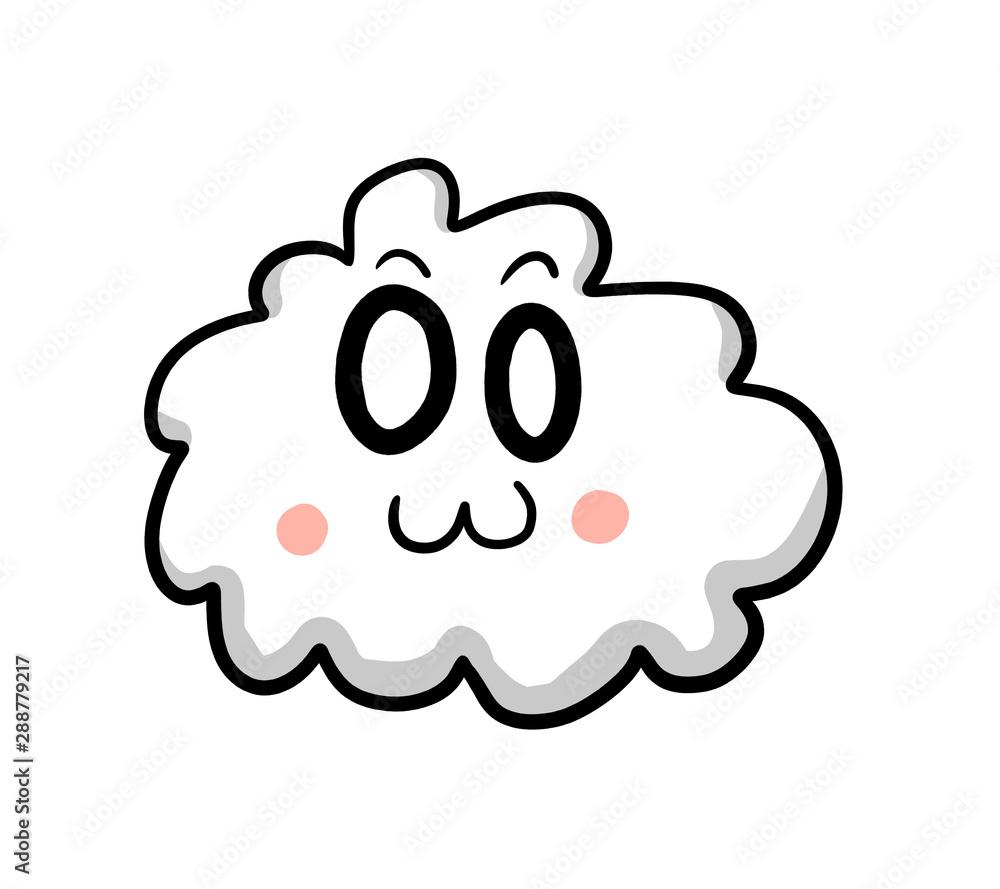 Cartoon Stylized Cloud