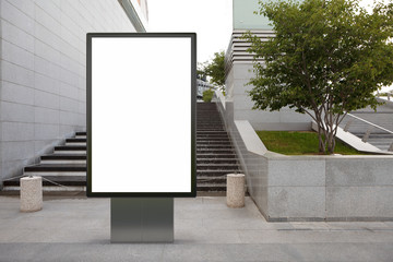 Blank street billboard poster