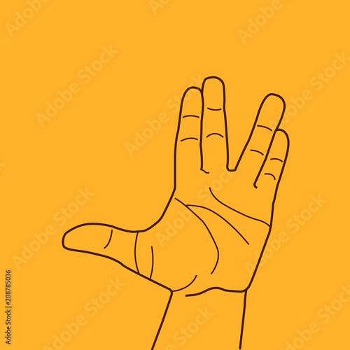 Vulcan salute hand gesture фототапет