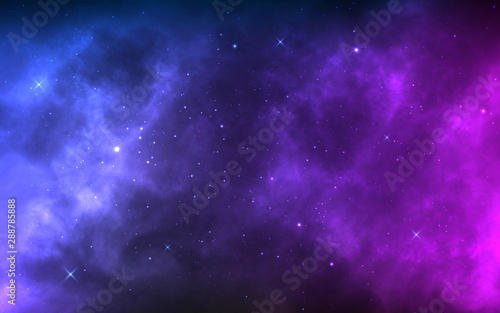 Space background with realistic nebula and shining stars Tablou Canvas