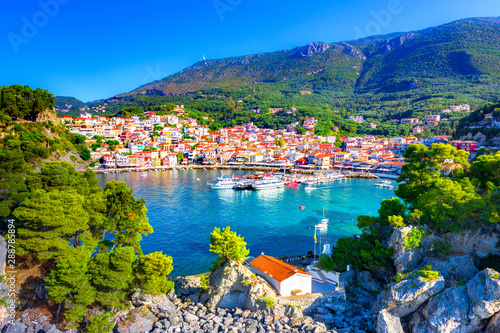 Recess Fitting Nice Panoramic view of scenic Parga city, Greece