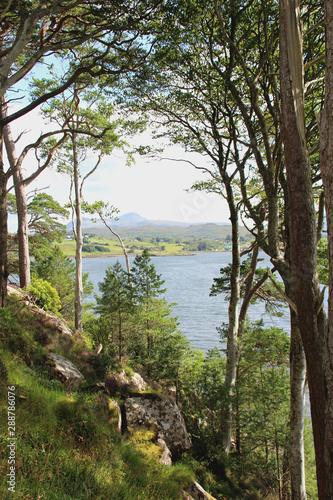 Romantische schottische Landschaft bei Portree Fototapete