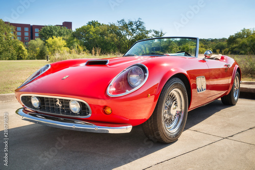 Front Side View Of A Red 1962 Ferrari 250 Gt California Spyder Classic Car On October 18 2014 In Westlake Texas Buy This Stock Photo And Explore Similar Images At Adobe Stock Adobe Stock