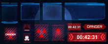 Futuristic Screens HUD, GUI, U...