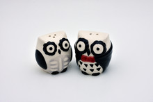 Black And White Owl Salt And P...