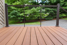 New Deck With Metal Wire Railing