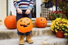 Little Boy At Halloween Celebr...