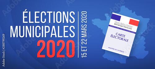 Fotografiet Élections Municipales 2020 en France - 15 et 22 Mars 2020
