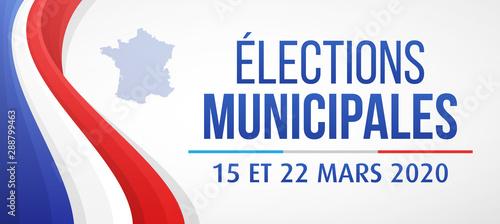 Élections Municipales 2020 en France - 15 et 22 Mars 2020 Fototapet
