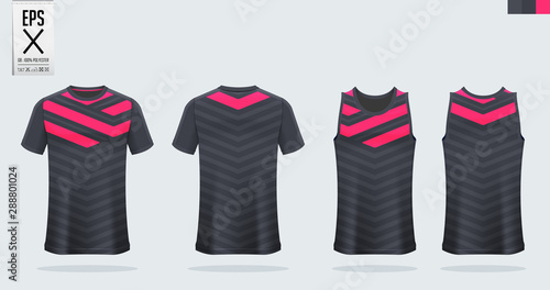 T-shirt sport mockup template design for soccer jersey, football kit, tank top for basketball jersey and running singlet Tableau sur Toile
