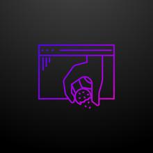 Website Cookies Nolan Icon. Elements Of Web Development Set. Simple Icon For Websites, Web Design, Mobile App, Info Graphics