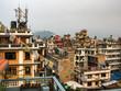Kathmandu Rooftops, Crowded City Skyline in Nepal