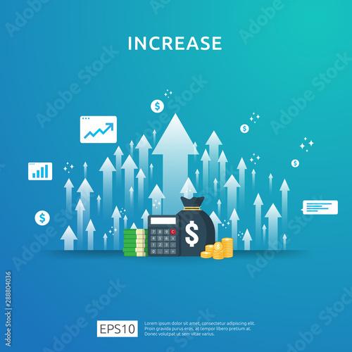 Fotografie, Tablou  income salary rate increase