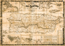 Antique Topographical Map Of P...