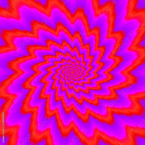 Obraz Red flower blossom. Optical expansion illusion. - fototapety do salonu