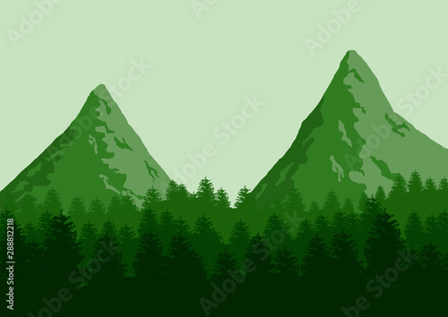 Photo Stands Green Beautiful green landscape. Nature background