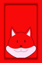 Red Fox Cartoon Wallpaper