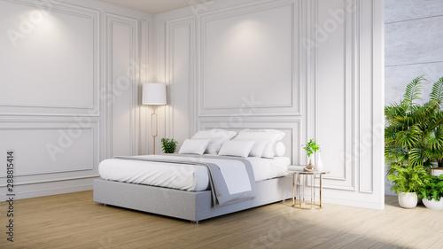 Master bedroom interior ,cozy space , modern classic design ...