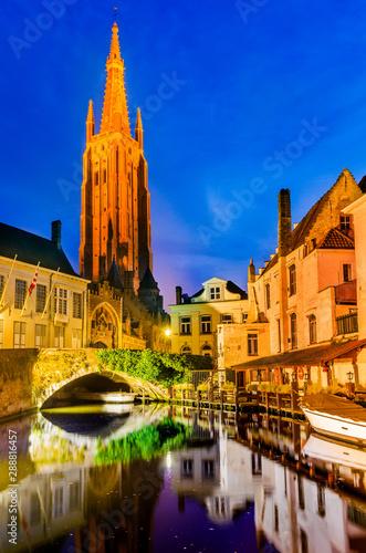 Foto op Canvas Brugge Bruges - Belgium, West Flanders.
