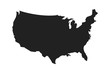 American isolated vector icon. Country map shape. Isolated white background. American patriotic background.