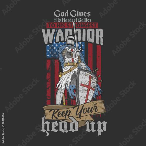warrior veteran illustration vector Wallpaper Mural
