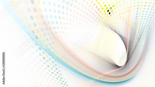 Obraz Abstract background element. Fractal graphics series. Three-dimensional composition of dynamic curves and mosaic halftone effects. Wide format high resolution image. 3d illustration. - fototapety do salonu