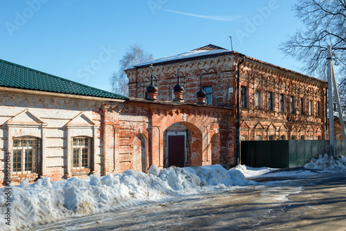 Fényképezés  Fraternal corps of Holy Ascension David's hermitage on a cold winter day