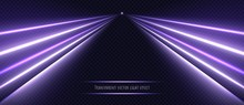 Violet Neon Light Effect Isola...