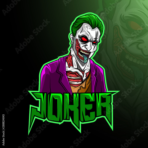 Mascot joker esport logo design #288824043