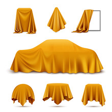 Cloth Covered Objects Realistic Set