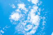 Leinwanddruck Bild Beautiful blue sky clouds for background. sky in summer.