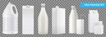 Realistic Milk Package Transpa...