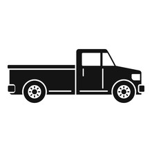 Pickup Car Icon. Simple Illustration Of Pickup Car Vector Icon For Web Design Isolated On White Background