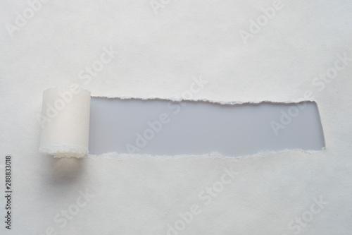 A long hole in old paper with place for your message Billede på lærred