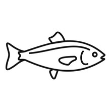 Ocean Fish Icon. Outline Ocean...