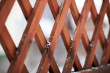 Old Wooden Fence With Rhombus ...
