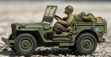 Scale Model Toy Wartime Jeep O...