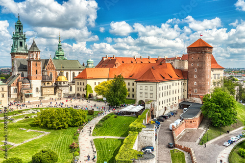 Photo sur Aluminium Cracovie Wawel Castle during the Day, Krakow