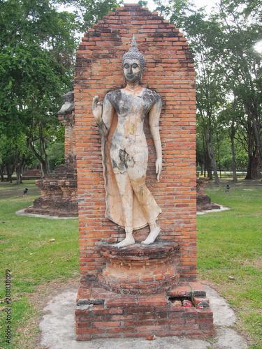 Sukhothai Historical Park Phra Pang Leela Statue. Canvas Print