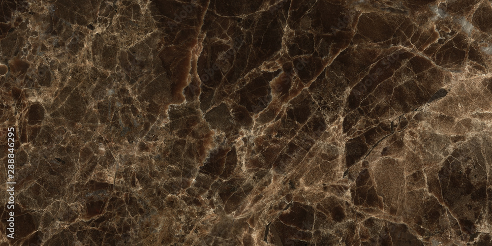 Fototapety, obrazy: Dark color marble texture, emperador marble surface background.Brown marble background