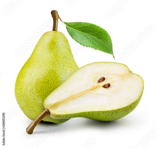 Foto Isolated pears
