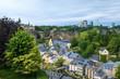 Blick auf die Unterstadt von Luxemburg-Stadt