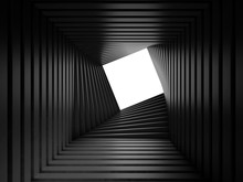 Abstract Black Twisted Tunnel ...