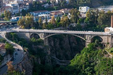 Konstantin, Alžir - 08.05.2015: Povijesni most u Konstantinu
