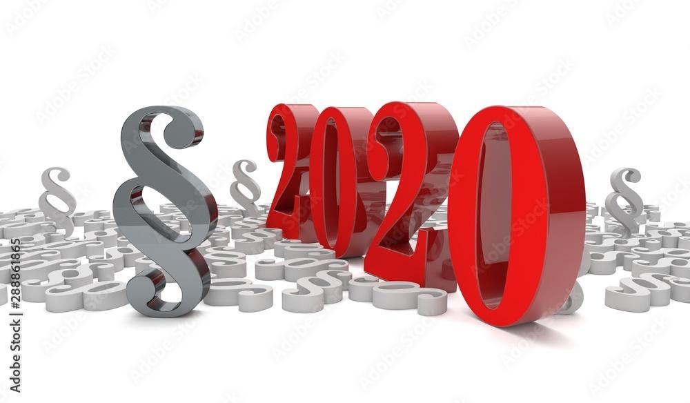 Fototapety, obrazy: Gesetzesänderungen im Jahre 2020