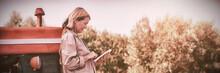 Woman Using Digital Tablet In ...