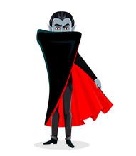 Happy Halloween. Vampire Cartoon Character