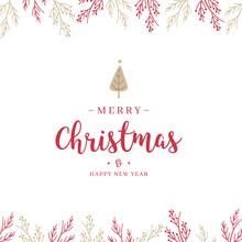 Christmas Branch And Greetings...