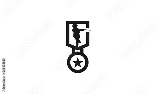 Army Badge Canvas Print