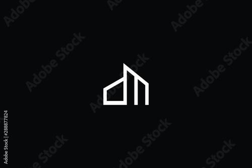 Fényképezés  Letter DM MD D M House And Building Logo Design